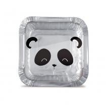 12 Marmitinhas Bolo/Doces Panda P 5,5X5,5X3Cm Festas - Cromus