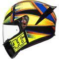 Capacete AGV K1 Soleluna 15 Preto/Amarelo (Valentino Rossi) -
