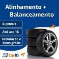 Alinhamento + Balanceamento + Instalação de pneus de 4 pneus - Car10