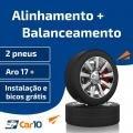 Alinhamento + Balanceamento de 2 pneus com instalação e bicos grátis - Car10