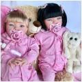 Bebê Realista tipo Reborn Menina 52cm Envio Rápido morena - Baby dollls