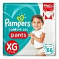 Fralda Pampers Confort Sec Pants Bag Xg 66 Unidades -