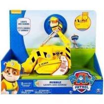 1305 patrulha canina veículo com som e luz rubble - Sunny brinquedos