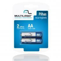 2 Pilhas Recarregáveis AA 2500mAH CB053 - Multilaser - Multilaser