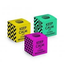 24 Caixas Dado para Doce Keep Calm Sort. Dec. Festas - Cromus