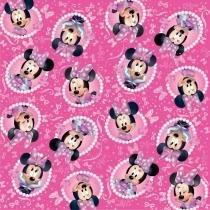 25 Folha P/Embalar Ovo Pascoa 69X89Cm Minnie Disney Rosa - Cromus pascoa