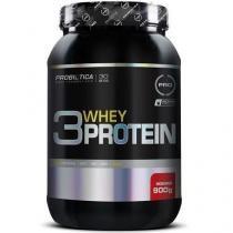 3 Whey Protein - 900g - Probiótica - Morango - Probiótica