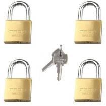 4 cadeados com a mesma chave pado 30mm quatro cadeados com mesmo segredo - Paris