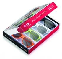 4 oculos 3d passivo tv lg ag-f315 lm lw cinema 3d - Lg