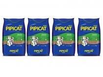 4 pacotes Areia Sanitária Higiênica para gatos Kelco Pipicat Classic 4kg -