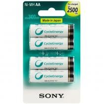 4 Pilhas Recarregável Sony Aa 2500mah Original -