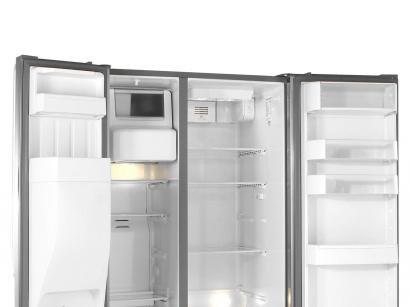 Geladeira/Refrigerador Brastemp Frost Free Inox - Side by Side 560L Dispenser de Água BRS62 CR