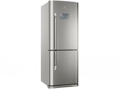 Geladeira/Refrigerador Electrolux Frost Free Inox  - Bottom Freezer 454L Painel Blue Touch DB53X