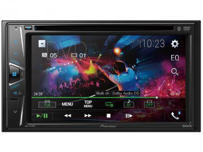 "Central Multimídia Pioneer AVH-G218BT Tela LCD - 6,2"" Touch 23 Watts RMS com Bluetooth USB"