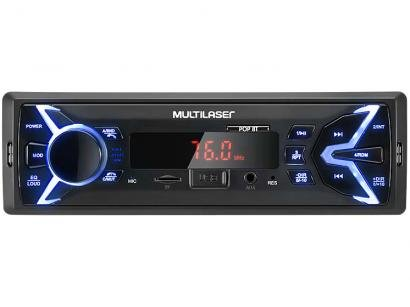 Som Automotivo Multilaser Pop BT Bluetooth  - MP3 Player Rádio FM USB Micro SD Auxiliar