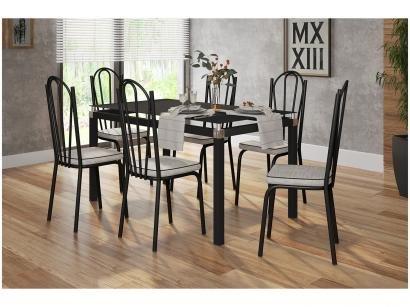Mesa de Cozinha 6 Cadeiras Retangular - Artefamol Flávia