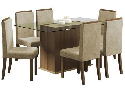 Conjunto de Mesa com 6 Cadeiras Madesa - Polônia