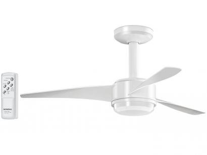 Ventilador de Teto com Controle Remoto Mondial  - Maxi Air VTE-02 3 Pás 3 Velocidades Branco