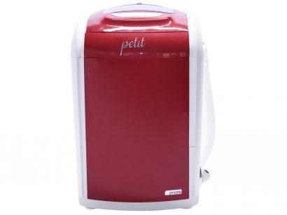Mini Lavadora de Roupas Praxis - Petit 1,2Kg Vermelha