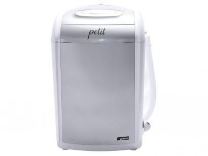 Mini Lavadora de Roupas Praxis - Petit 1,2Kg Prata