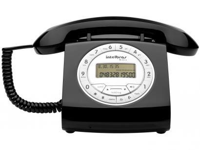 Telefone Com Fio Intelbras TC 8312 - Identificador de Chamada Viva Voz Preto