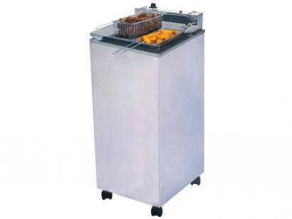 Fritadeira Elétrica Industrial Progás PR 300E - 24L Inox com 2 Cestos