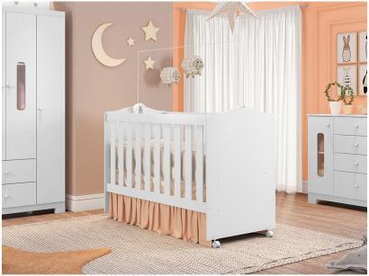 Berço Móveis Estrela Sonhos 202046489 - 2 Níveis de Altura para Crianças até 25Kg