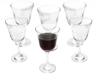 Jogo de Taças para Vinho Vidro 6 Peças - Nadir Lírio
