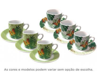 Jogo de Xícaras de Café Porcelana 6 Peças - Full Fit Coffe Time