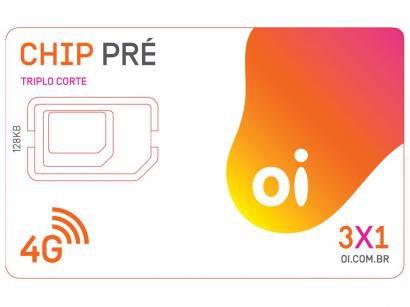 Chip Oi 4G Pré-Pago - DDD 31 ao DDD 38