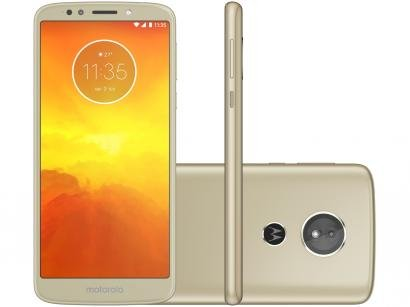 "Smartphone Motorola Moto E5 16GB Ouro 4G Quad Core - 2GB Tela 5.7"" Câm 13MP + Selfie 5MP Dual Chip"