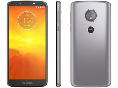 "Smartphone Motorola Moto E5 32GB Platinum 4G - Quad Core 2GB RAM Tela 5,7"" Câm. 13MP + Selfie 5MP"
