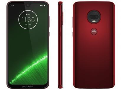 "Smartphone Motorola G7 Plus 64GB Rubi 4G - 4GB RAM Tela 6,24"" Câm. Dupla + Câm. Selfie 12MP"