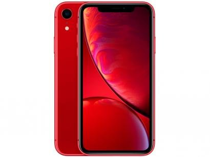 "iPhone XR Apple 64GB Product Red 4G Tela 6,1"" - Retina Câmera 12MP + Selfie 7MP iOS 12"