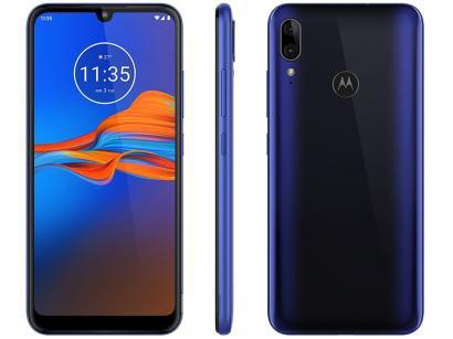 """Smartphone Motorola E6 Plus 32GB Azul 4G 2GB RAM - Tela 6,1"""" Câm. Dupla + Câm. Selfie 8MP Dual Chip"""