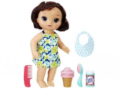 Boneca Baby Alive Morena Sorvete Mágico - com Acessórios Hasbro
