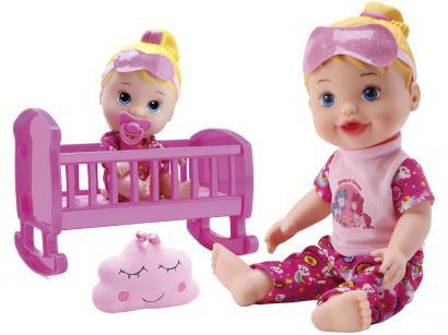 Boneca My Little Collection Brincando de Pijamas - com Acessórios 2 Unidades Divertoys