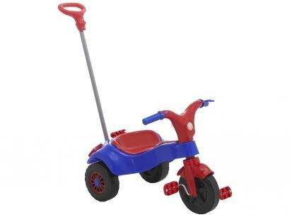 Triciclo Infantil Home Play com Empurrador - Motoca Praia e Campo Haste Removível