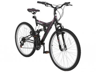 Bicicleta Track  Bikes TB 200/PP Aro 26 - 18 Marchas Dupla Suspensão Quadro de Aço