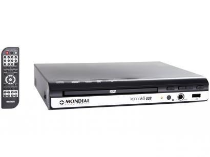 DVD Player Mondial D-15 com Karaokê Ripping  - USB