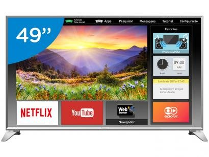 "Smart TV LED 49"" Panasonic Full HD Viera - TC-49ES630B Conversor Digital Wi-Fi 3HDMi 2 USB"