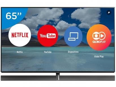 "Smart TV 4K OLED 65"" Panasonic TC-65EZ100 Wi-Fi - HDR Conversor Digital 4 HDMI 3 USB"