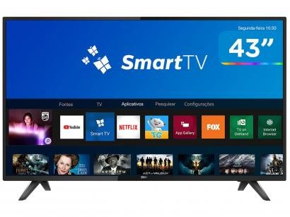 "Smart TV LED 43"" Philips 43PFG5813/78 Full HD - Wi-Fi Conversor Digital 2 HDMI 2 USB"