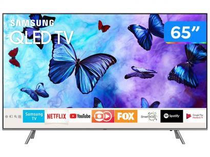 "Smart TV QLED 65"" Samsung 4K/Ultra HD Q6FN - Tizen Modo Ambiente Linha 2018"