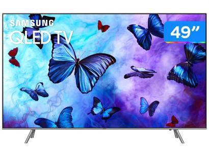 "Smart TV QLED 49"" Samsung 4K/Ultra HD - QN49Q6FNAGXZD Tizen Modo Ambiente Linha 2018"