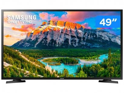"Smart TV LED 49"" Samsung Série 5 J5290 Full HD - Wi-Fi Conversor Digital 2 HDMI USB"