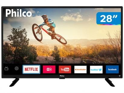 "Smart TV LED 28"" Philco PTV28G50SN - Wi-Fi Conversor Digital 2 HDMI USB"