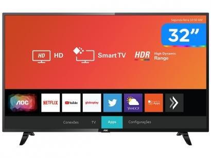 """Smart TV LED 32"""" AOC 32S5295/78G Wi-Fi - HDR 3 HDMI 2 USB"""