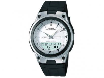 Relógio de Pulso Analógico e Digital Masculino - Casio Mundial AW-80-7AVDF