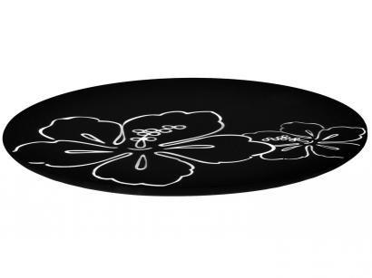 Tábua de Petiscos Vidro Redonda Mor - Vitra Black And White 8024